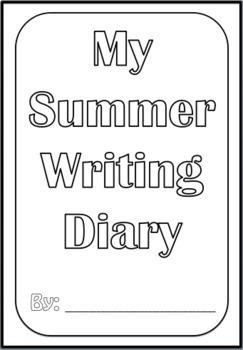 Summer Writing Diary (Editable)