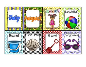 Summer Writing Display Cards