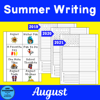 Summer Writing Flapbook