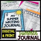 Summer Journal Writing   Summer Activities   Digital Google and Print