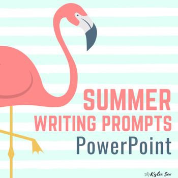 Summer Writing Journal Prompts PowerPoint