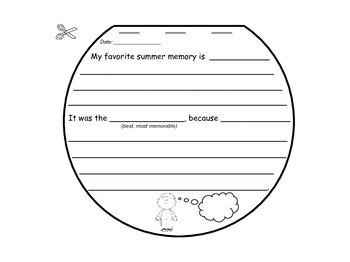 Summer Writing Journal {Sun-Shaped Flip-Up Booklet}