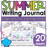Summer Writing Journal with Sentence Starters   Differenti