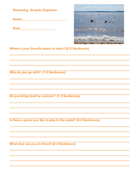 Back to School Writing Project - Summer Experiences with Visual Prompts