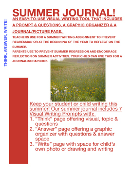 Back to School Writing Project - Summer Experiences with V