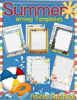 Summer Writing Journals and Templates
