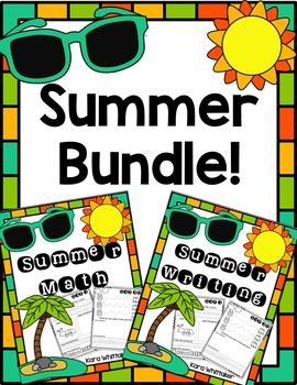 Summer Math & Writing Bundle