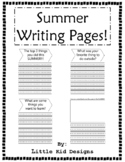 Summer Writing Pages