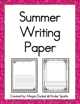 Summer Writing Paper- 20 different page options