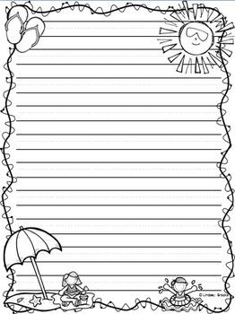 Summer Writing Paper