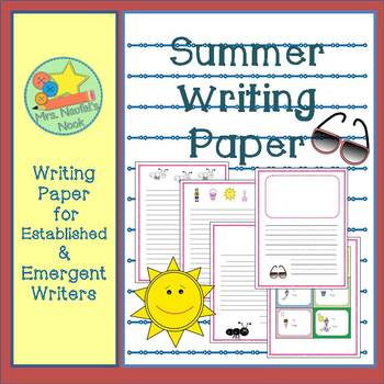 Writing Paper Templates - Summer Theme