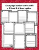 School Themed Writing Paper- 20 different page options