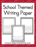 school themed writing paper