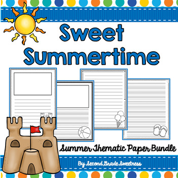 Summer Writing Paper Bundle