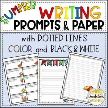 Summer Writing Paper - Dotted Lines