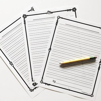 Summer Writing Paper Free (Lined Writing Paper)