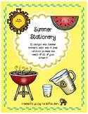Summer Stationery- Lined Writing Paper with Fun Borders to Color!