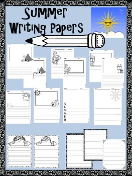 Summer Writing Paper Pack