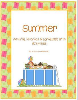 Summer Writing, Phonics, and Language Arts Activities