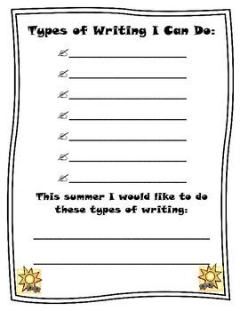 Summer Writing Plans