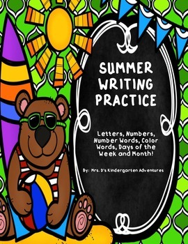 Summer Writing Practice - Directions in English and Spanish