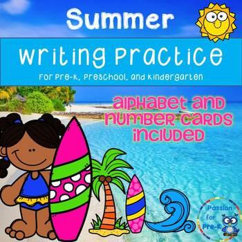 Summer Writing Practice for Pre-K, Preschool, or Kindergarten | TpT