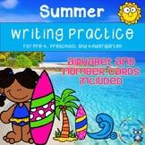 Summer Writing Practice for Pre-K, Preschool, or Kindergarten