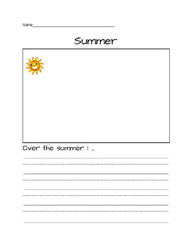 Summer Writing Prompt