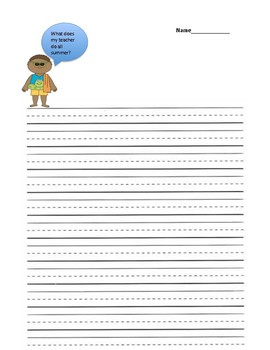 Summer Writing Prompt Grades K-4