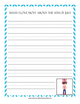 Summer Writing Prompt Notebooking Pages