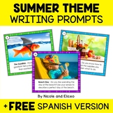 Summer Writing Prompt Task Cards
