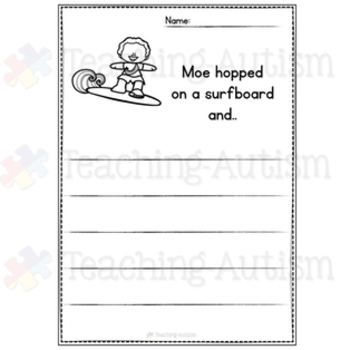Summer Writing Prompt Worksheets