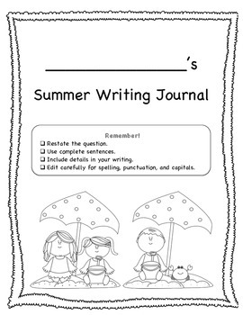 Summer Writing Prompts--FREE!