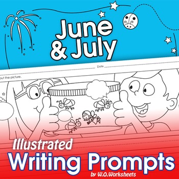 Summer Writing Prompts June, July
