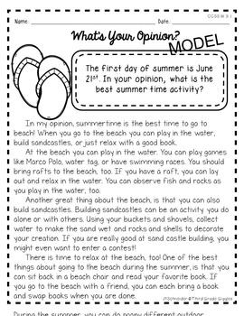 Summer Themed Writing Prompts