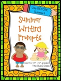 Summer Writing Prompts (3rd-5th) - Distance Learning