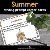Summer Writing Prompts Center Activity Cards