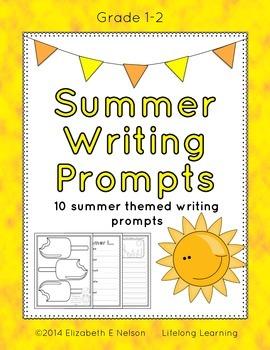 Summer Writing Prompts: Grades 1-2