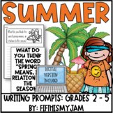 Summer // Writing Prompts: Grades 2 - 5 // Digital Version Included