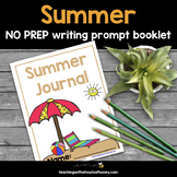 Summer Writing Prompts NO PREP Booklet