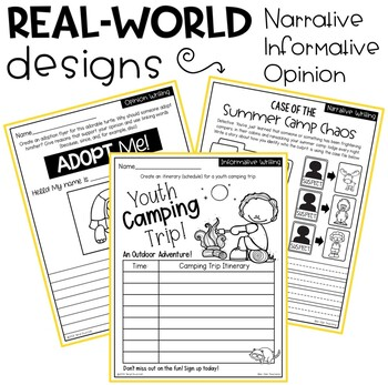 Summer Writing Prompts: Traditional & Real-World Formats