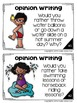 Summer Writing Prompts: Opinion, Informative, Narrative: 3-5