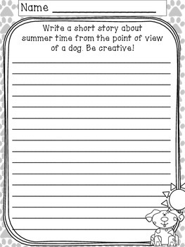 Summer Writing Prompts And Paper By Chantal Gunn Tpt
