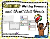 Summer Writing Prompts and Word Wall Words