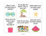 Summer Writing Prompts for Centers or Writing Instruction