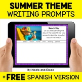 Summer Writing Prompts for Google Classroom - Distance Learning