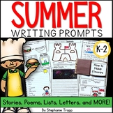 Summer Writing Prompts for Kindergarten, First Grade, and
