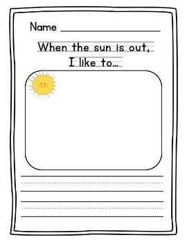Summer Writing Prompts for Preschool