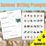Summer Writing Prompts for Special Education plus a BONUS