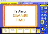 Summer Writing Prompts for the Promethean board